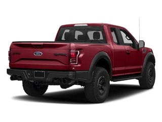 Ruby Red Metallic Tinted Clearcoat 2017 Ford F-150 Pictures F-150 SuperCab Raptor 4WD photos rear view