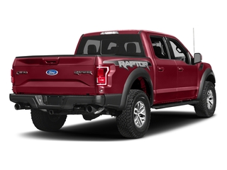 Ruby Red Metallic Tinted Clearcoat 2017 Ford F-150 Pictures F-150 Crew Cab Raptor 4WD photos rear view