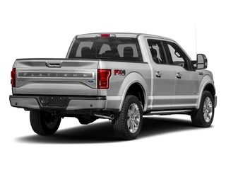 Ingot Silver Metallic 2017 Ford F-150 Pictures F-150 Crew Cab Platinum 2WD photos rear view