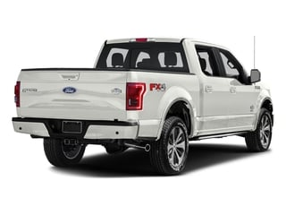 White Platinum Metallic Tri-Coat 2017 Ford F-150 Pictures F-150 Crew Cab King Ranch 4WD photos rear view