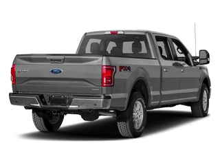 Ingot Silver Metallic 2017 Ford F-150 Pictures F-150 Crew Cab Lariat 4WD photos rear view