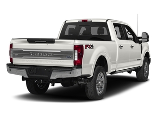 White Platinum Metallic Tri-Coat 2017 Ford Super Duty F-250 SRW Pictures Super Duty F-250 SRW Crew Cab King Ranch 4WD photos rear view