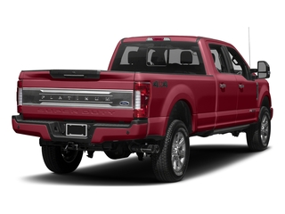 Ruby Red Metallic Tinted Clearcoat 2017 Ford Super Duty F-250 SRW Pictures Super Duty F-250 SRW Crew Cab Platinum 4WD photos rear view