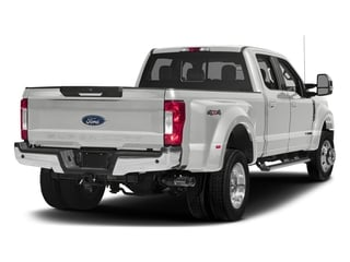 Oxford White 2017 Ford Super Duty F-450 DRW Pictures Super Duty F-450 DRW Crew Cab Lariat 4WD T-Diesel photos rear view