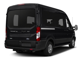 Shadow Black 2017 Ford Transit Wagon Pictures Transit Wagon Passenger Van XLT Medium Roof photos rear view