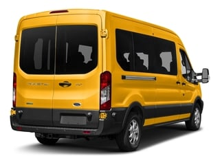 School Bus Yellow 2017 Ford Transit Wagon Pictures Transit Wagon Passenger Van XL Medium Roof photos rear view