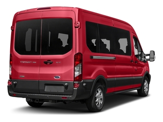 Race Red 2017 Ford Transit Wagon Pictures Transit Wagon Passenger Van XL Medium Roof photos rear view