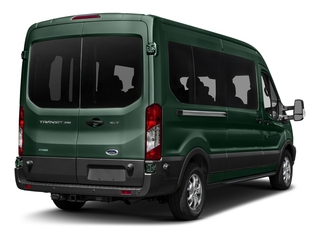 Green Gem Metallic 2017 Ford Transit Wagon Pictures Transit Wagon Passenger Van XL Medium Roof photos rear view