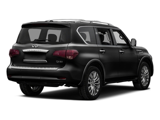 Black Obsidian 2017 INFINITI QX80 Pictures QX80 Utility 4D Signature 2WD V8 photos rear view