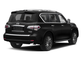 Black Obsidian 2017 INFINITI QX80 Pictures QX80 Utility 4D Limited AWD V8 photos rear view