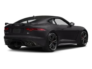 Ultimate Black Metallic 2017 Jaguar F-TYPE Pictures F-TYPE Coupe 2D SVR AWD V8 photos rear view