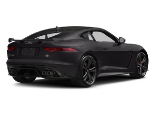 Ultimate Black Metallic 2017 Jaguar F-TYPE Pictures F-TYPE Coupe Auto SVR AWD photos rear view
