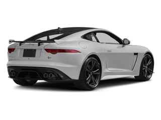 Glacier White Metallic 2017 Jaguar F-TYPE Pictures F-TYPE Coupe 2D SVR AWD V8 photos rear view