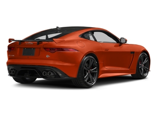 Firesand Metallic 2017 Jaguar F-TYPE Pictures F-TYPE Coupe Auto SVR AWD photos rear view