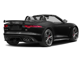 Ultimate Black Metallic 2017 Jaguar F-TYPE Pictures F-TYPE Convertible 2D SVR AWD V8 photos rear view