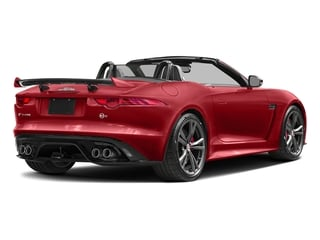 Caldera Red 2017 Jaguar F-TYPE Pictures F-TYPE Convertible 2D SVR AWD V8 photos rear view