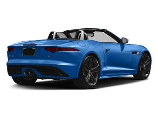 Ultra Blue Metallic 2017 Jaguar F-TYPE Pictures F-TYPE Conv 2D S British Design Edition AWD photos rear view