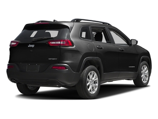 Diamond Black Crystal Pearlcoat 2017 Jeep Cherokee Pictures Cherokee Sport 4x4 photos rear view