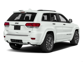 Bright White Clearcoat 2017 Jeep Grand Cherokee Pictures Grand Cherokee Utility 4D Overland 4WD T-Dsl photos rear view