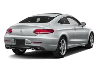 Iridium Silver Metallic 2017 Mercedes-Benz C-Class Pictures C-Class Coupe 2D C300 AWD photos rear view