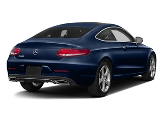 Brilliant Blue Metallic 2017 Mercedes-Benz C-Class Pictures C-Class C 300 Coupe photos rear view