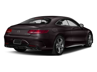 Ruby Black Metallic 2017 Mercedes-Benz S-Class Pictures S-Class AMG S 63 4MATIC Coupe photos rear view