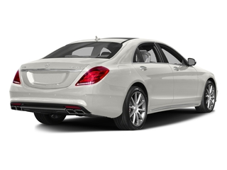 designo Magno Cashmere White (Matte Finish) 2017 Mercedes-Benz S-Class Pictures S-Class Sedan 4D S63 AMG AWD V8 Turbo photos rear view