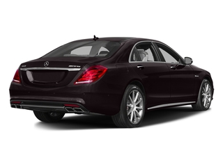 Ruby Black Metallic 2017 Mercedes-Benz S-Class Pictures S-Class AMG S 63 4MATIC Sedan photos rear view