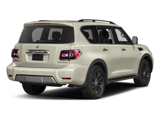 Pearl White 2017 Nissan Armada Pictures Armada Utility 4D Platinum 2WD V8 photos rear view