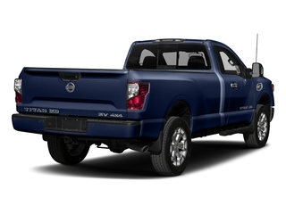 Deep Blue Pearl 2017 Nissan Titan XD Pictures Titan XD Regular Cab SV 2WD photos rear view