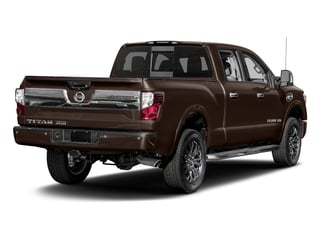 Java Metallic 2017 Nissan Titan XD Pictures Titan XD Crew Cab Platinum Reserve 4WD photos rear view
