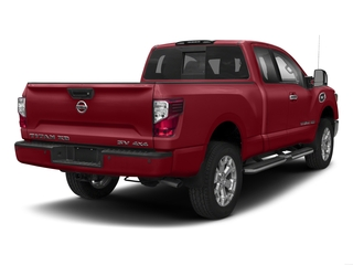 Cayenne Red 2017 Nissan Titan XD Pictures Titan XD Extended Cab S 4WD photos rear view