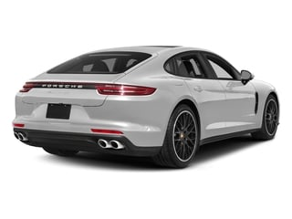 Carrara White Metallic 2017 Porsche Panamera Pictures Panamera Hatchback 4D 4 AWD V6 Turbo photos rear view