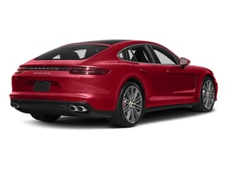 Carmine Red 2017 Porsche Panamera Pictures Panamera Turbo Executive AWD photos rear view