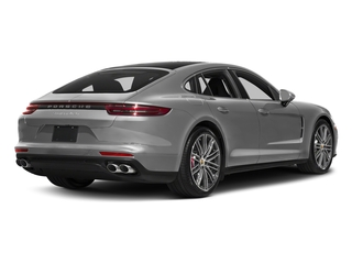 Rhodium Silver Metallic 2017 Porsche Panamera Pictures Panamera Turbo Executive AWD photos rear view