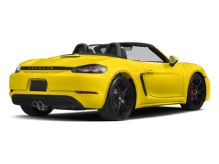 Racing Yellow 2017 Porsche 718 Boxster Pictures 718 Boxster Roadster 2D S H4 Turbo photos rear view