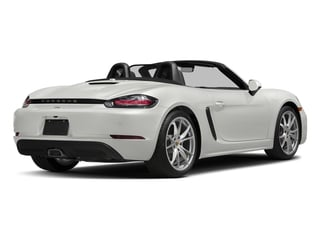 White 2017 Porsche 718 Boxster Pictures 718 Boxster Roadster 2D H4 Turbo photos rear view