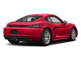 Guards Red 2017 Porsche 718 Cayman Pictures 718 Cayman Coupe 2D H4 Turbo photos rear view