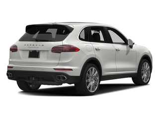 White 2017 Porsche Cayenne Pictures Cayenne Utility 4D AWD V8 Turbo photos rear view