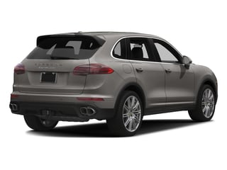 Meteor Grey Metallic 2017 Porsche Cayenne Pictures Cayenne Utility 4D AWD V8 Turbo photos rear view