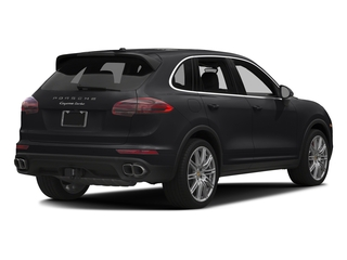 Black 2017 Porsche Cayenne Pictures Cayenne Utility 4D AWD V8 Turbo photos rear view