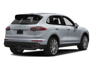 Rhodium Silver Metallic 2017 Porsche Cayenne Pictures Cayenne Utility 4D AWD V8 Turbo photos rear view