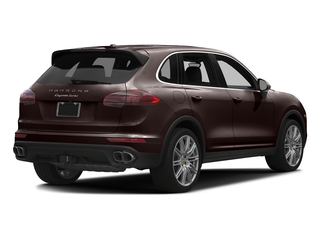 Mahogany Metallic 2017 Porsche Cayenne Pictures Cayenne Utility 4D AWD V8 Turbo photos rear view