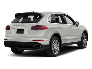 White 2017 Porsche Cayenne Pictures Cayenne Utility 4D AWD V6 photos rear view