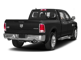 Brilliant Black Crystal Pearlcoat 2017 Ram Truck 1500 Pictures 1500 Longhorn 4x4 Crew Cab 6'4 Box photos rear view