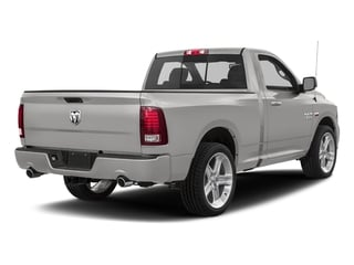 Bright Silver Metallic Clearcoat 2017 Ram Truck 1500 Pictures 1500 Night 4x4 Regular Cab 6'4 Box photos rear view