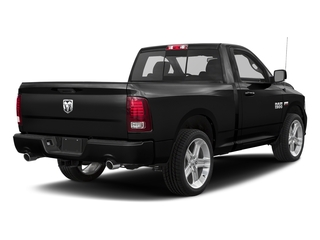 Brilliant Black Crystal Pearlcoat 2017 Ram Truck 1500 Pictures 1500 Night 4x2 Regular Cab 6'4 Box photos rear view