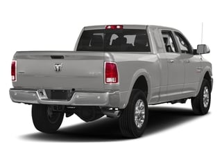 Bright Silver Metallic Clearcoat 2017 Ram Truck 3500 Pictures 3500 Laramie Longhorn 4x2 Mega Cab 6'4 Box photos rear view