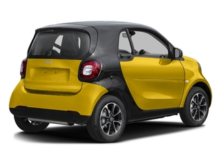 Black-to-Yellow Metallic 2017 smart fortwo Pictures fortwo Coupe 2D Pure I3 Turbo photos rear view