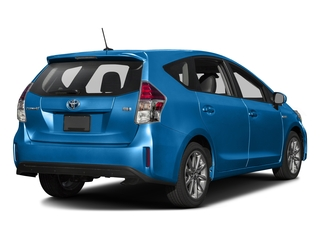 Galactic Aqua Metallic 2017 Toyota Prius v Pictures Prius v Liftback 5D v Five I4 Hybrid photos rear view